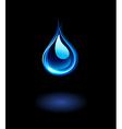 Glowing water drop vector image