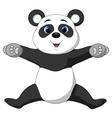 Happy panda cartoon vector image