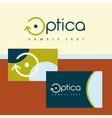 Logo and identification optics vector image