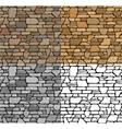 Set Seamless Stone Textures vector image