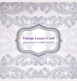 vintage luxury card with baroque ornament vector image