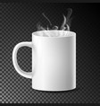 white cup mug realistic ceramic or vector image