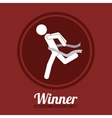 Winner design vector image