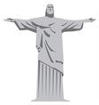 statue of jesus christ vector image