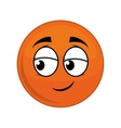 sphere cartoon face expression icon vector image