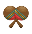 maracas folk music instrument icon vector image