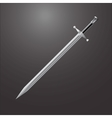 Steel sword on black vector image