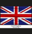 national flag of united kingdom vector image
