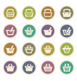 shopping bascket icons set vector image