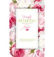 romantic flowers vertical frame vector image