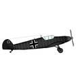 Fighter Bf 109 vector image
