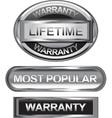 Silver retro stamp sticker tag label badge vector image vector image