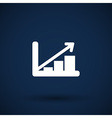Infographic chart icon graph market business vector image