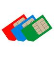 Three sim cards vector image vector image