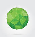 polygon circle background green vector image