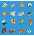 Gambling Isometric Icons Set vector image