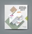 Annual report paper architecture vector image