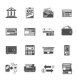 Banking Icons Black Set vector image