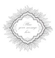 floral frame leaves vintage border nature vector image