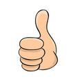 hand thumb up cartoon symbol icon design vector image