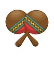 maracas folk music instrument icon vector image