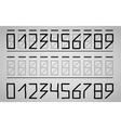 Numbers on the mail envelope vector image