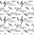 seamless pattern with music notes - background vector image