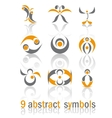 Set of different abstract business signs vector image