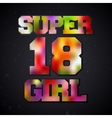 Super girl vintage stamp vector image
