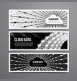 cloud data connection technology vector image vector image