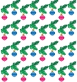 background of seasonal christmas branch with vector image