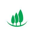 tree landscape logo vector image