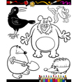Cartoon Animals for Coloring Book vector image