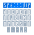 Modern font with monospaced typeface vector image