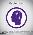 Icon head think silhoutte man and his mind about s vector image