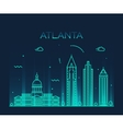 Atlanta skyline trendy linear vector image