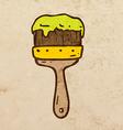 Paintbrush Cartoon vector image