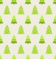 Seamless Christmas pattern green fir and pine tree vector image vector image