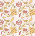 breakfast seamless breakfast food pattern vector image