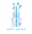 Christmas background with boxes made snowflakes vector image