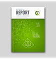 Cover Report Business Colorful Green Triangle vector image