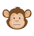 cute monkey character icon vector image