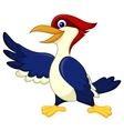 Cute woodpecker presenting vector image