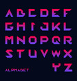 geometrical font modern futuristic typography vector image