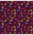 Multicolor draw pattern with leaves vector image