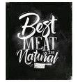 poster best meat chalk vector image