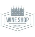 wine shop logo simple gray style vector image