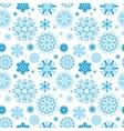 Blue Snow Pattern vector image