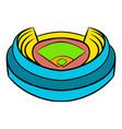 baseball stadium icon icon cartoon vector image
