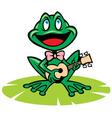 singing frog vector image vector image